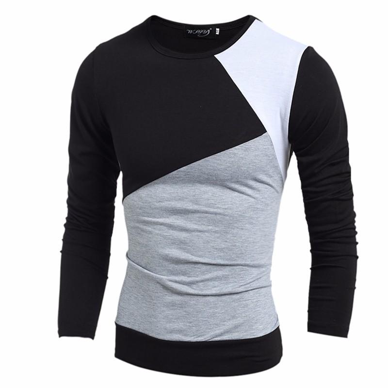 4e699cef6c3bc Wholesale 2016 NEW Fashion Brand Casual Slim Fit Tshirt Striped ...