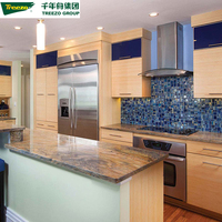 Luxury Factory Direct Custom Service New Model PVC Home Furniture Wood Kitchen Cabinet Door Designs Modern