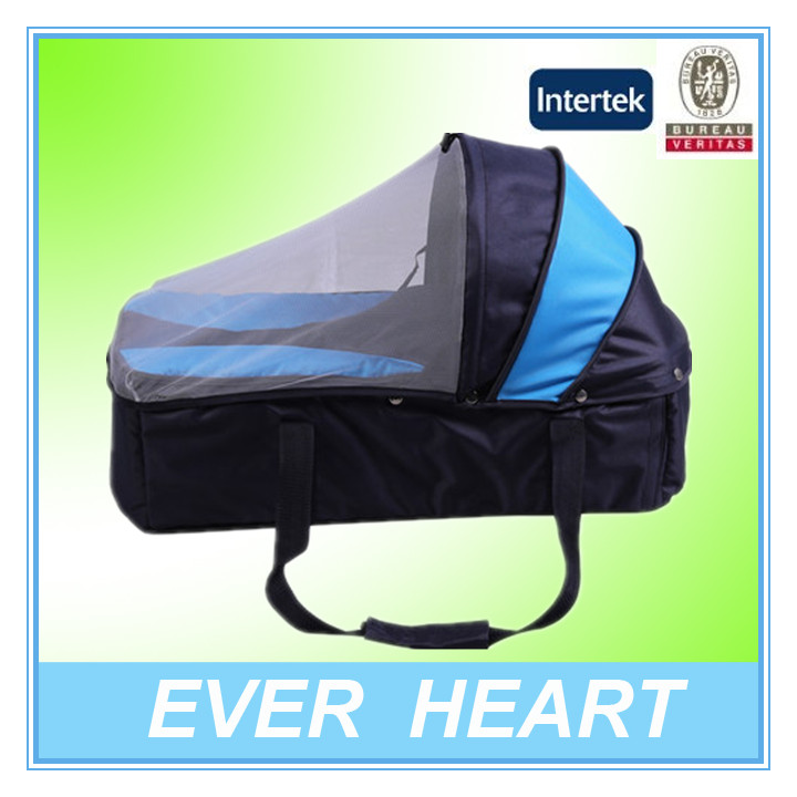 New product blue 600D polyester polyester baby carry cot bag