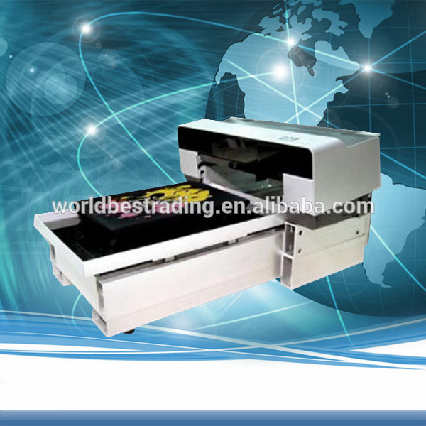 A3 Small Size Cotton Textile Fabric Printer-A2 Size Digital DTG T-shirt Printer Flatbed Printer 8 Color DX5 Printer Head-On