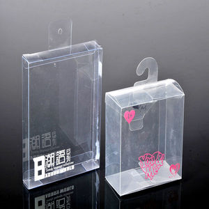 Fashion frosted&transparent pvc box clear shoe box