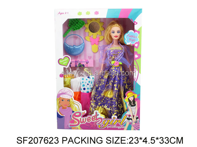 N+ Hot Sale Customize wholesale barbiee doll pretty lovely frozen princess set dolls SF207623