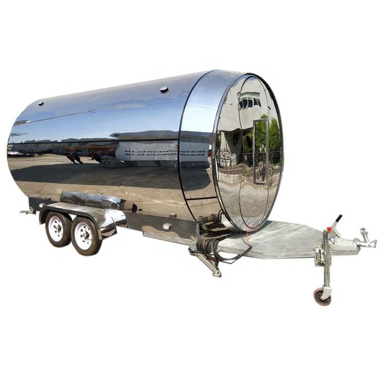 फास्ट फूड खानपान Airstream ट्रेलरों या मोबाइल बिजली Airstream खाद्य ट्रक खाद्य कारवां गाड़ी