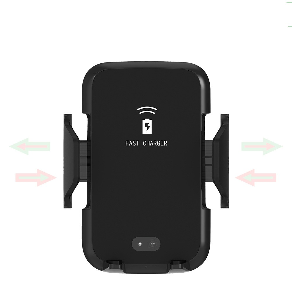 Quick Charge Infrared Charging Holder 10w Mount automatic Fast Mobile Phone Qi Car Wireless Charger