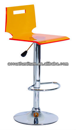 ACRYLIC bar Stool manufacturer Plastic Swivel bar stool/bar chair