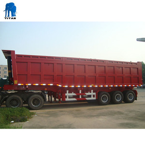 semi dump trailer tipping trailer ET 60-100T rear tipper trailer tipper truck