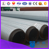 pre-insulated air conditioning black steel pipe with insulation and galvanized sheet metal cladded vapor barrier
