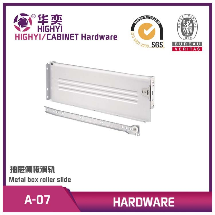 118MM side mounted metal drawer slide rail for furniture
