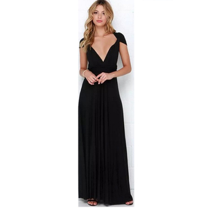 22LQ2035 Lady Women Sexy Multi Wrap Ways Long Prom Dress For Evening Party