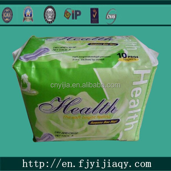 Healthy Cotton Sanitary Napkin with Breathable Backsheet