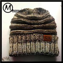 a1a5276c7da Morewin Amazon Hot Sell New CC Custom Beanies And Cap Knit Hat Wholesale