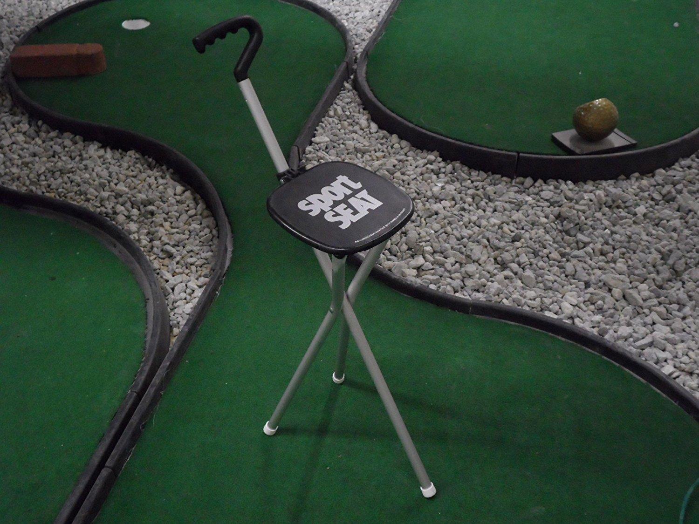 Sport Seat Combo Walking Stick & Seat Bundle Black