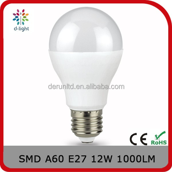 A60 dimmable 1000lm 12w incandescent 100w E27 A shape high power led bulb