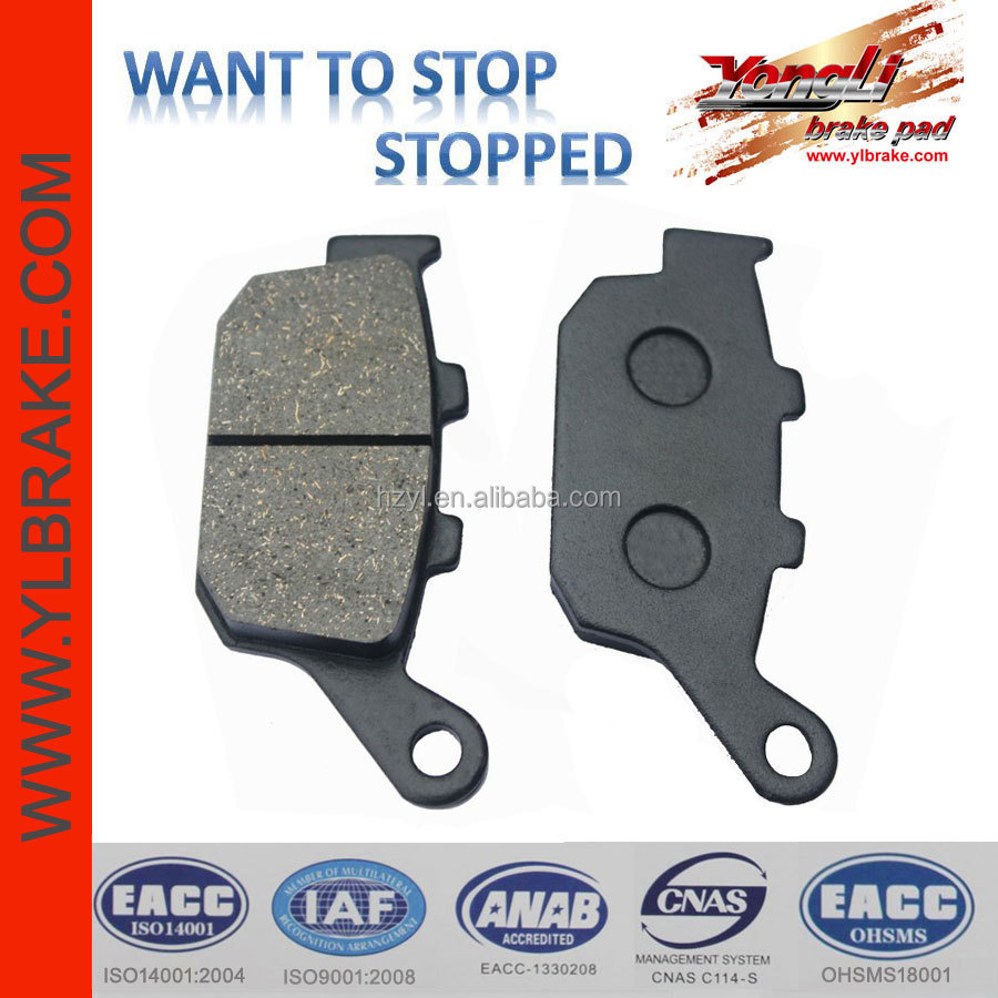excellent quality motorcycle brake pad for HONDA-FES 150/CB 250/NSR 250/VTR 250/NT 650/FMX 650/XRV 750/for YAMAHA-XJ6-S