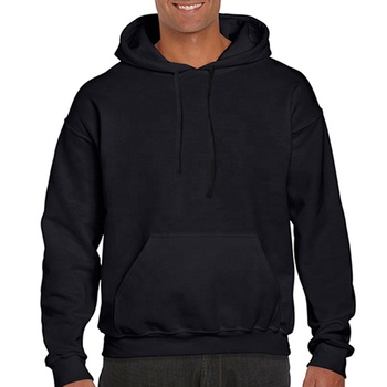 Mens custom embroidered 100% cotton black grey hoodies 2019