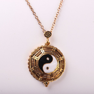 PJ826 Huilin personality Jewelry magnifier Glass Pendant Necklace enlargement mirror sweater chain necklace in stock Jewelry