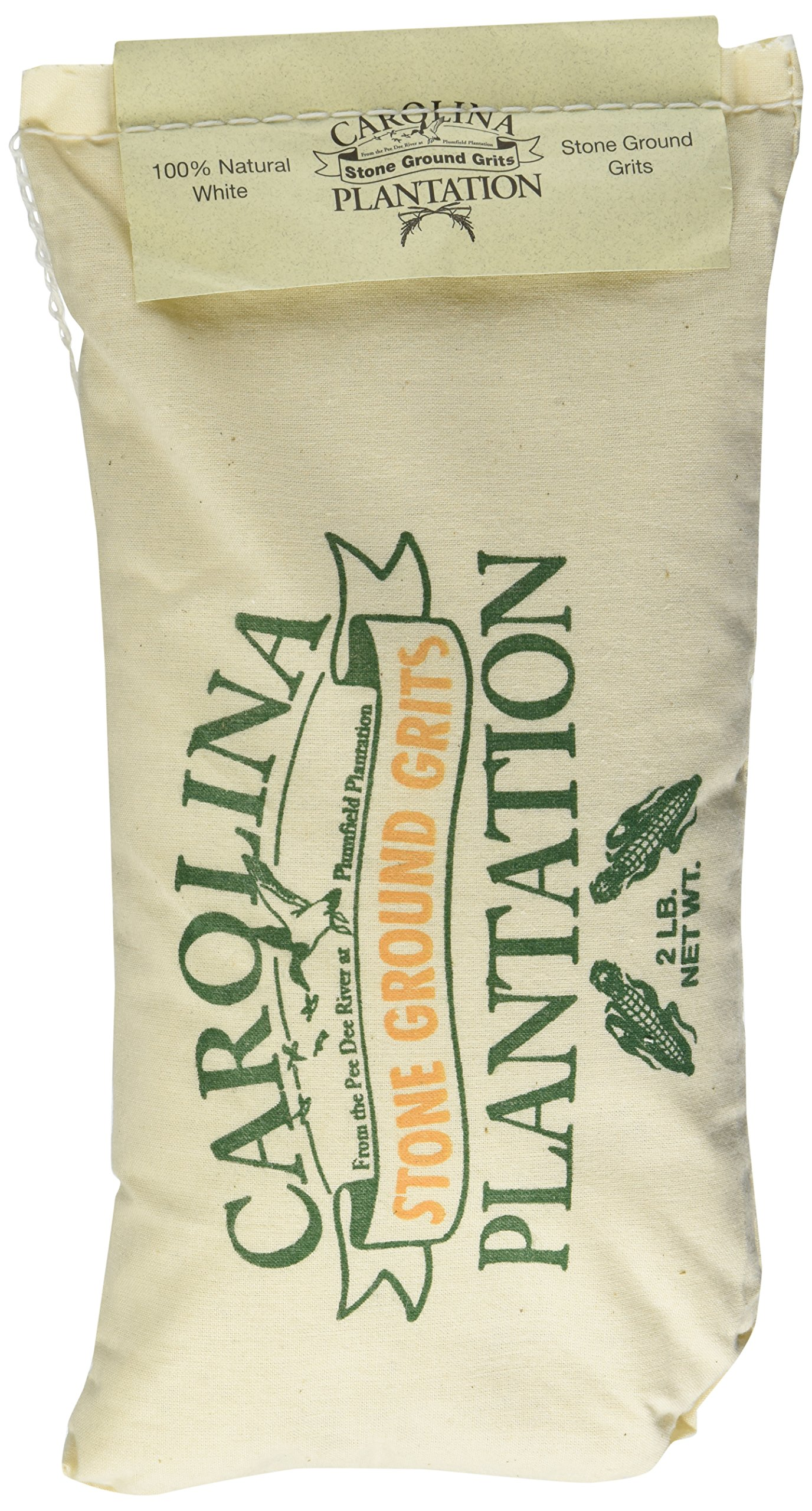 Carolina Plantation Stone Ground White Grits- 2 lb Bag
