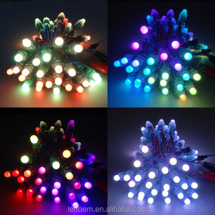 CE ROHS 0.3W 12MM WS2812 Pixel Digital Led String For KTV