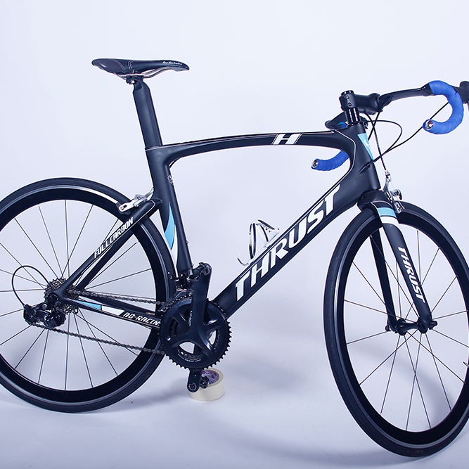 Thrust 700C Carbon Fiber Road Bike Complete Bicycle Carbon <strong>Cycling</strong> bicycle Road Bike 18 Speed