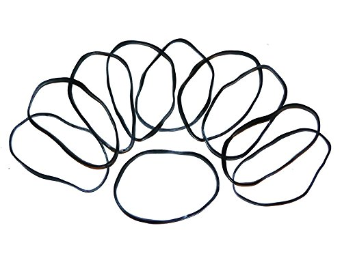 """20 Large Black Rubber Bands for Fishing Size #32 (3"""" x 1/8"""") Salt Water Friendly, UV & Heat Resistant"""