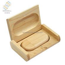 Natural Wooden Stick Style Usb Flash Thumb Drive 4gb With Box