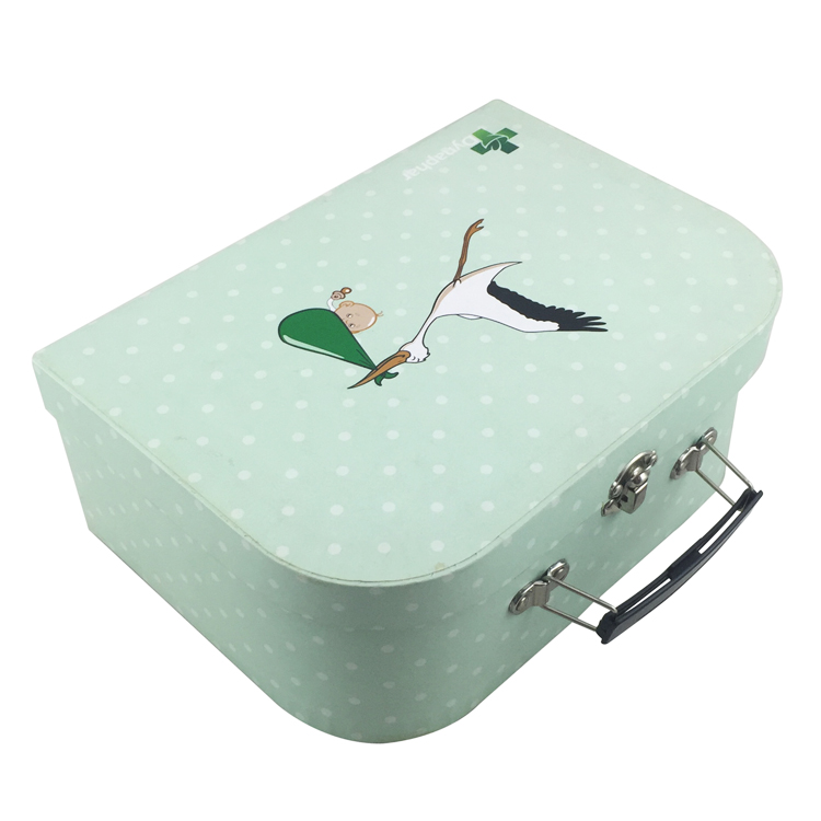 China Suppliers Cardboard Kids Small Paper Suitcase Packaging Gift Box