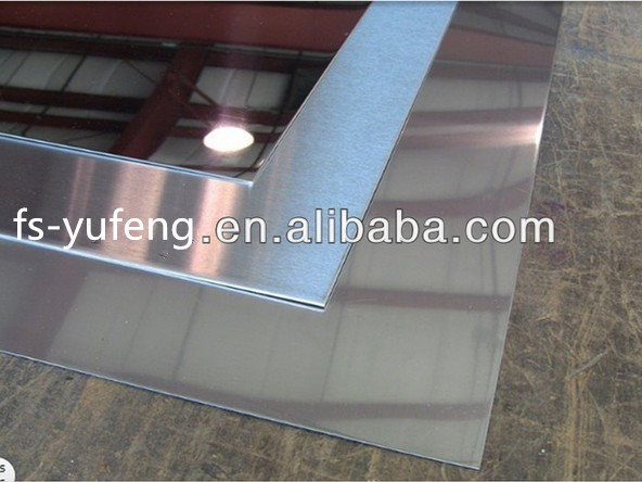 mirror satin hairline finish brushed stainless steel sheet