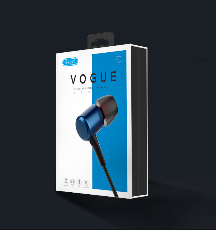 RECCI Hot sales  VOGUE REB-K01Wireless earphone 4.1 Magnetic Earphones, in-Ear  Sweatproof Headphones with Mic