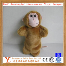 OEM 28cm hot selling Doll hand puppet toy animal smiling monkey stuffed toys lovely