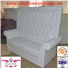 high loveseat pin queen nail tufted head love sale chaise vinyl banquette chair white seat snow leather back