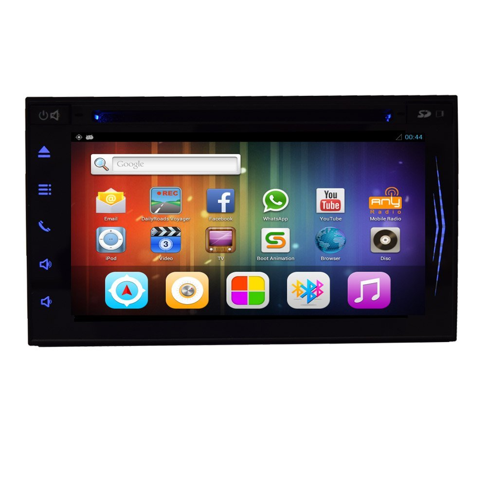 6.2 inch Pure Car Audio Android 4.4.4 Tablet Universal Double 2 Din Double Din Car Stereo In Dash Car DVD Head Unit Player GPS Navigation Stereo Car Dvd Player AM/FM Radio Support Bluetooth Rad