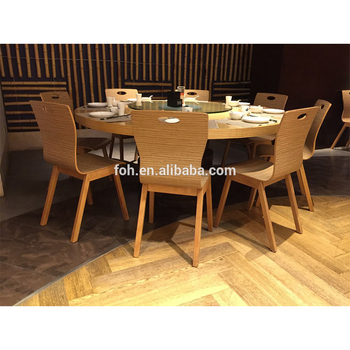 Hotel Dining Round Table For 8 People Foh Plw318
