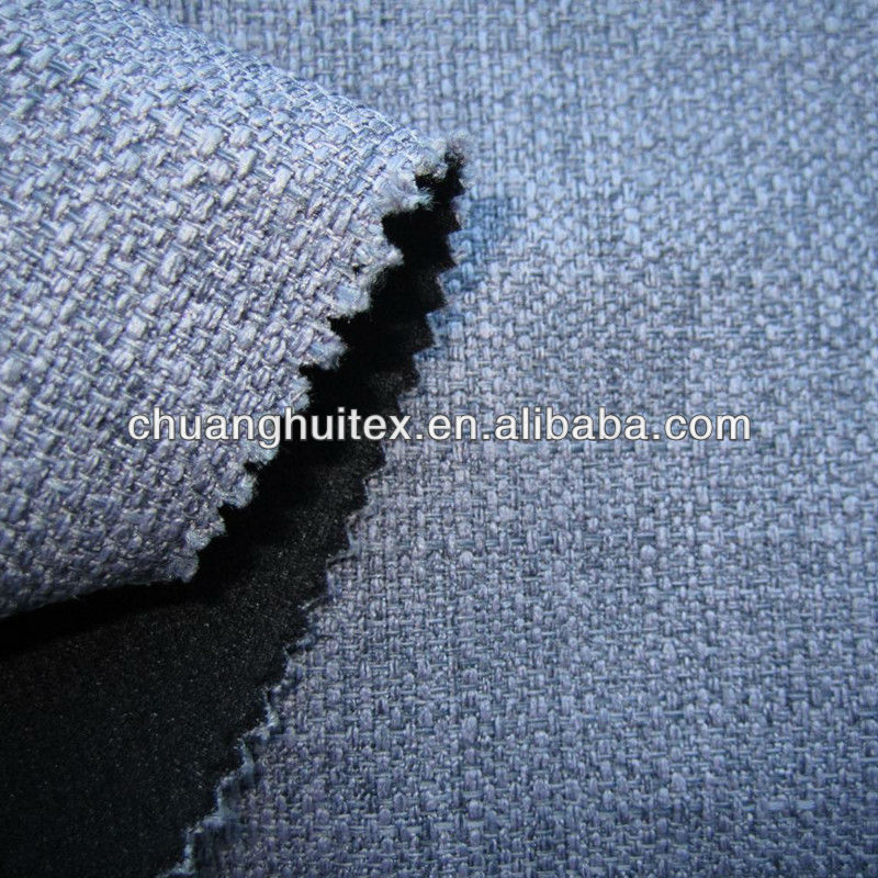 100% polyester imitate linen fabric boned with knitting fabric