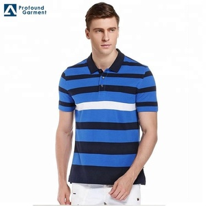 China Factory Drop Ship Men Stripe Polo Shirt From Factory Direct