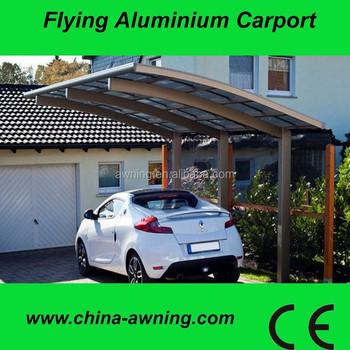 bijgevoegde wand aluminium carport garage met polycarbonaat pc blad dakaluminium carport prijzen