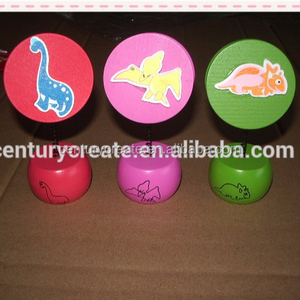 cartoon animals wooden card holder clip