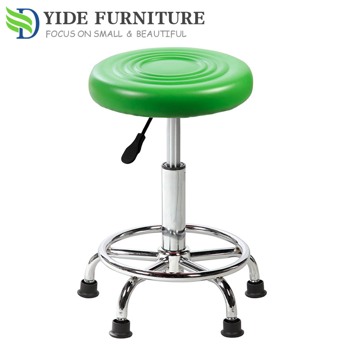 PVC leather bar stool parts with floor protectors