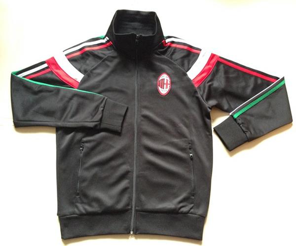 87b80e7717a3c Get Quotations · 2013-2014 AC Milan Training Jacket-Black