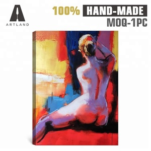 High quality abstract acrylic sexy nude body art oil painting
