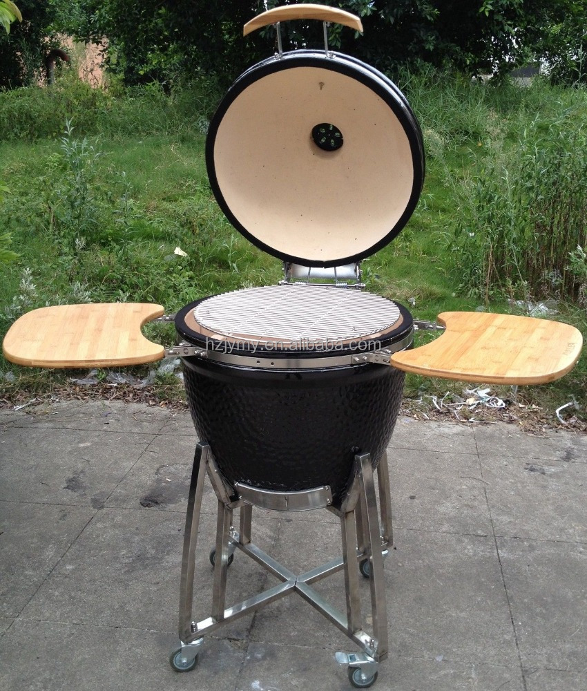 Newest kamado smoker ceramic grill with table