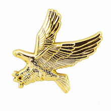 Custom 3D Gratis Ontwerp Zachte Emaille 3d Eagle Badge Metalen Revers Pin
