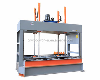 OEM& manufacturing MJ80T laminate machine cold press for flat panel furniture