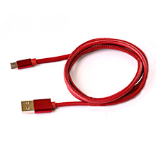 Pure tin copper 2 times speed unique srong leather Android USB charging cable