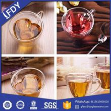 Cheap heat resistant double wall glass coffee/shot/tea cup