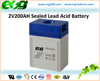 2V200AH Water Pump Rechargeable VRLA Sealed AGM Storage Industrial Battery