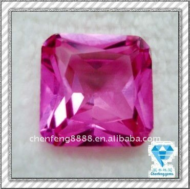 synthetic square cut ruby 3# stone