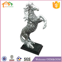 Factory Custom made best home decoration gift polyresin resin silver animal figurines
