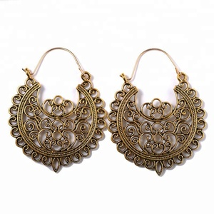 alloy vintage boho mexican chunky cheap gold earrings