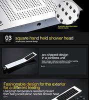 Wholesale shower led multi color recessed ceiling shower head ...