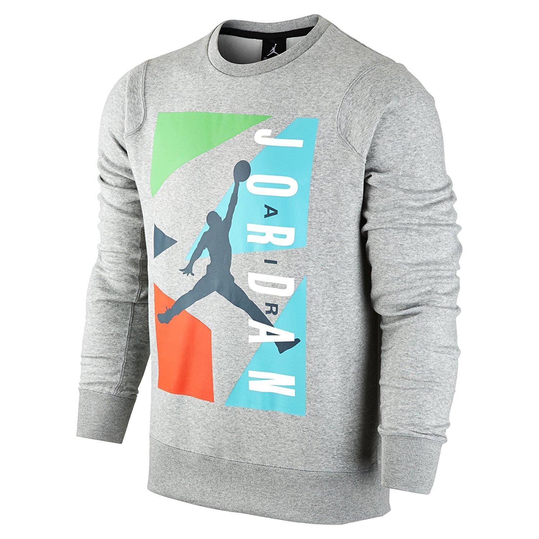 d337e41ca0d890 Get Quotations · Air Jordan Men s Block Fleece Crew Sweatshirt